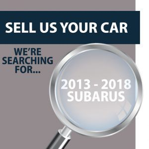 Sell Us Your 2013-2018 Subaru